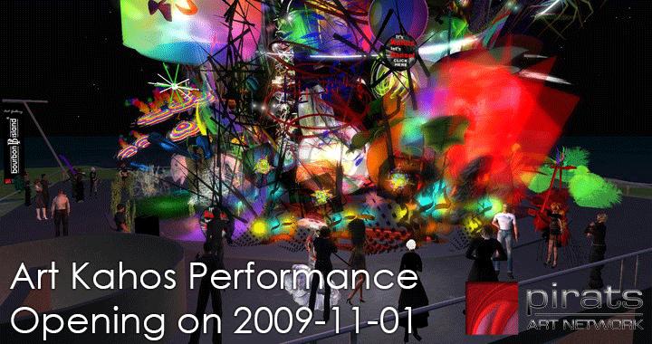 Vernissage Flyer Pirats Art Kahos 2009