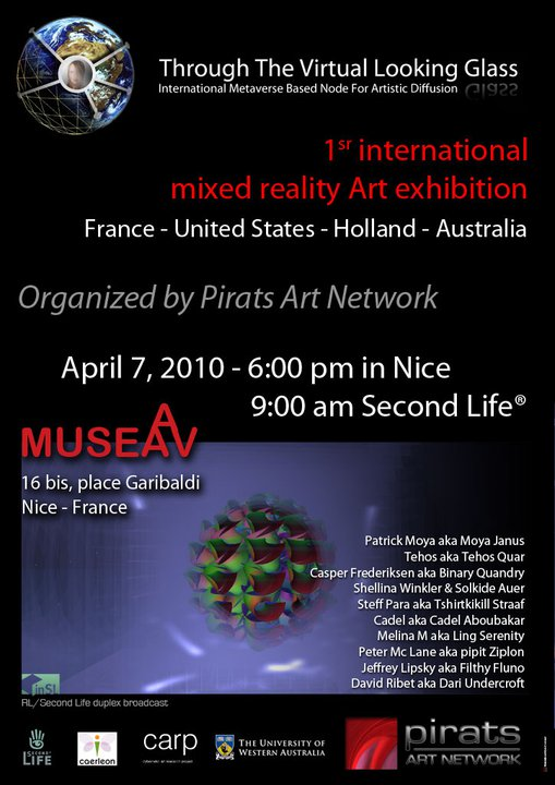 Affiche Exposition internationale Pirats Art Network